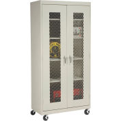 Sandusky Mobile Clear View Storage Cabinet TA4V362472 - 36x24x78, Putty