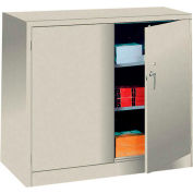 Sandusky Mobile Clear View Counter Height Storage Cabinet TA2V461842 -46x18x48, Putty