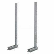 "Cantilever Rack Single Sided Upright, 57"" D x 8' H, 3200 Lbs Capacity"