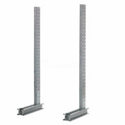 "Cantilever Rack Single Sided Upright, 57"" D x 10' H, 3100 Lbs Capacity"