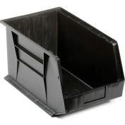 Quantum Plastic Stacking Bins - Parts Storage Bin QUS260 11 x 18 x 10 Black - Pkg Qty 4