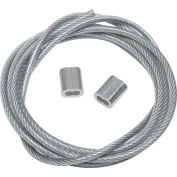 Steel Tie Down Cable 5'L Reinforced With End Loops for Outdoor Fixtures