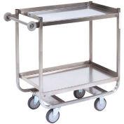Jamco Stainless Steel Shelf Truck XM248 48x24 2 Shelves