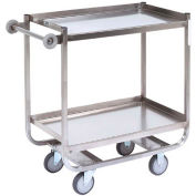 Jamco Stainless Steel Shelf Truck XF236 36x24 2 Shelves