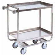 Jamco Stainless Steel Shelf Truck XF248 48x24 2 Shelves