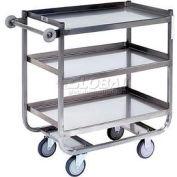 Jamco Stainless Steel Shelf Truck XN248 48x24 3 Shelves