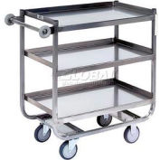 Jamco Stainless Steel Shelf Truck XG236 36x24 3 Shelves