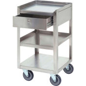 """Jamco Stainless Steel Mobile Stand XR118 18""""L x 18""""W x 35""""H 800 Lb. with Drawer"""