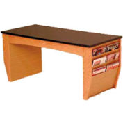 "Wooden Mallet Coffee Table With Magazine Rack - 46-1/2"" -  Medium Oak"