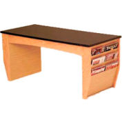 """Wooden Mallet Coffee Table With Magazine Rack - 46-1/2"""" - Light Oak"""