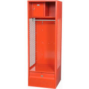Penco 6WFD33-767 Stadium® Locker With Shelf Security Box & Footlocker 24x24x76 Red All Welded