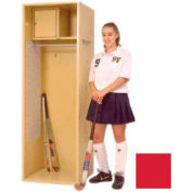 Penco 6WFD31-767 Stadium® Locker With Shelf & Security Box,24x24x76, Cardinal Red, All Welded