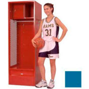 Penco 6KFD63-806 Stadium® Locker With Shelf Security Box & Footlocker 33x24x72 Blue Unassembled