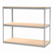 """Record Storage Rack Without Boxes 72""""W x 30""""D x 60""""H - Gray"""