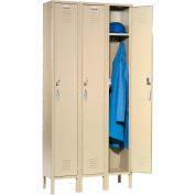 Capital® Locker Single Tier 12x18x72 3 Door Ready To Assemble Tan