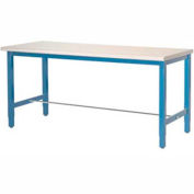 """72""""W x 30""""D Packaging Workbench - ESD Laminate Square Edge - Blue"""