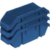 Quantum Quickpick Double Plastic Hopper Bin QP1265 6-5/8 x 12-1/2 x 5 Blue - Pkg Qty 20