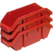 Quantum Quickpick Double Plastic Hopper Bin QP1496 9-1/4 x 14 x 6-1/2 Red - Pkg Qty 20