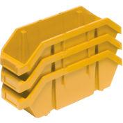 Quantum Quickpick Double Plastic Hopper Bin QP1496 9-1/4 x 14 x 6-1/2 Yellow - Pkg Qty 20
