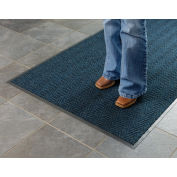 Chevron Ribbed Mat 4 Foot Slate Blue