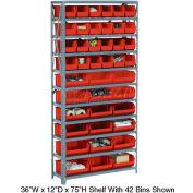 Bin Shelving Open Shelving 36x12x73
