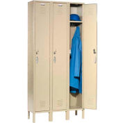 Capital™ Locker Single Tier 12x18x72 3 Door Assembled Tan