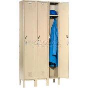 Capital® Locker Single Tier 12x18x72 3 Door Assembled Tan
