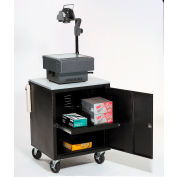 Global Industrial & #174; Black Security Audio Visual Cart 500 Lb. Capacity