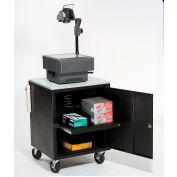Black Security Audio Visual Cart 500 Lb. Capacity