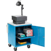 Global Industrial® Blue Security Audio Visual Cart 500 Lb. Capacity