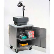 Gray Security Audio Visual Cart 500 Lb. Capacity