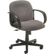 Mid Back Designer Fabric Chair - Gray
