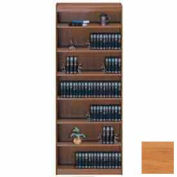 """Unassembled 84""""H Contemporary Square Edge Bookcase Light Oak"""