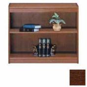 """Unassembled 30""""H Contemporary Square Edge Bookcase Walnut"""