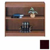 """Unassembled 30""""H Contemporary Square Edge Bookcase Mahogany"""