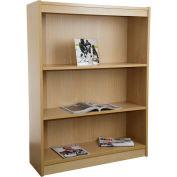 """Unassembled 48""""H Contemporary Square Edge Bookcase Light Oak"""