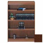 """Unassembled 60""""H Contemporary Square Edge Bookcase Walnut"""