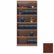 "Unassembled 72""H Contemporary Square Edge Bookcase Medium Oak"