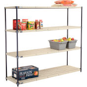 Vented Plastic Shelving 72x18x63 Nexelon Finish