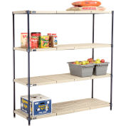 Vented Plastic Shelving 60x24x63 Nexelon Finish