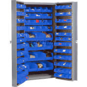 Bin Cabinet Unassembled With 40 Interior & 96 Door Bins