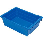Quantum Cross Stack Nest Tub TUB2417-8 - 23-3/4 x 17-1/4 x 8 Blue - Pkg Qty 6