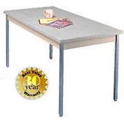 """Gray Activity Table - Square Edge Top - 20""""W X 60""""L"""