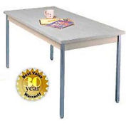 "Gray Activity Table - Square Edge Top - 36""W X 72""L"