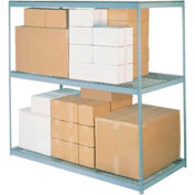 "Wide Span Rack 96""W x 48""D x 84""H With 3 Shelves Wire Deck 800 Lb Capacity Per Level"