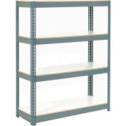 "Extra Heavy Duty Shelving 48""W x 24""D x 60""H With 4 Shelves, 1200 lbs. Capacity Per Shelf - Gray"
