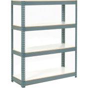 "Extra Heavy Duty Shelving 48""W x 24""D x 60""H Gray With 4 Shelves, 1200 lbs. Capacity Per Shelf"