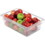Rubbermaid 3309-00 Clear Plastic Box 3 1/2 Gallon 18 x12 x 6 - Pkg Qty 6