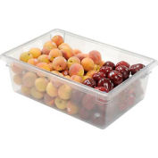 Rubbermaid 3300-00 Clear Plastic Box 12 1/2 Gallon 18 x 26 x 9 - Pkg Qty 6