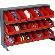 3 Shelf Bench Rack With 24 Bins 4 Inch Wide 33x12x21